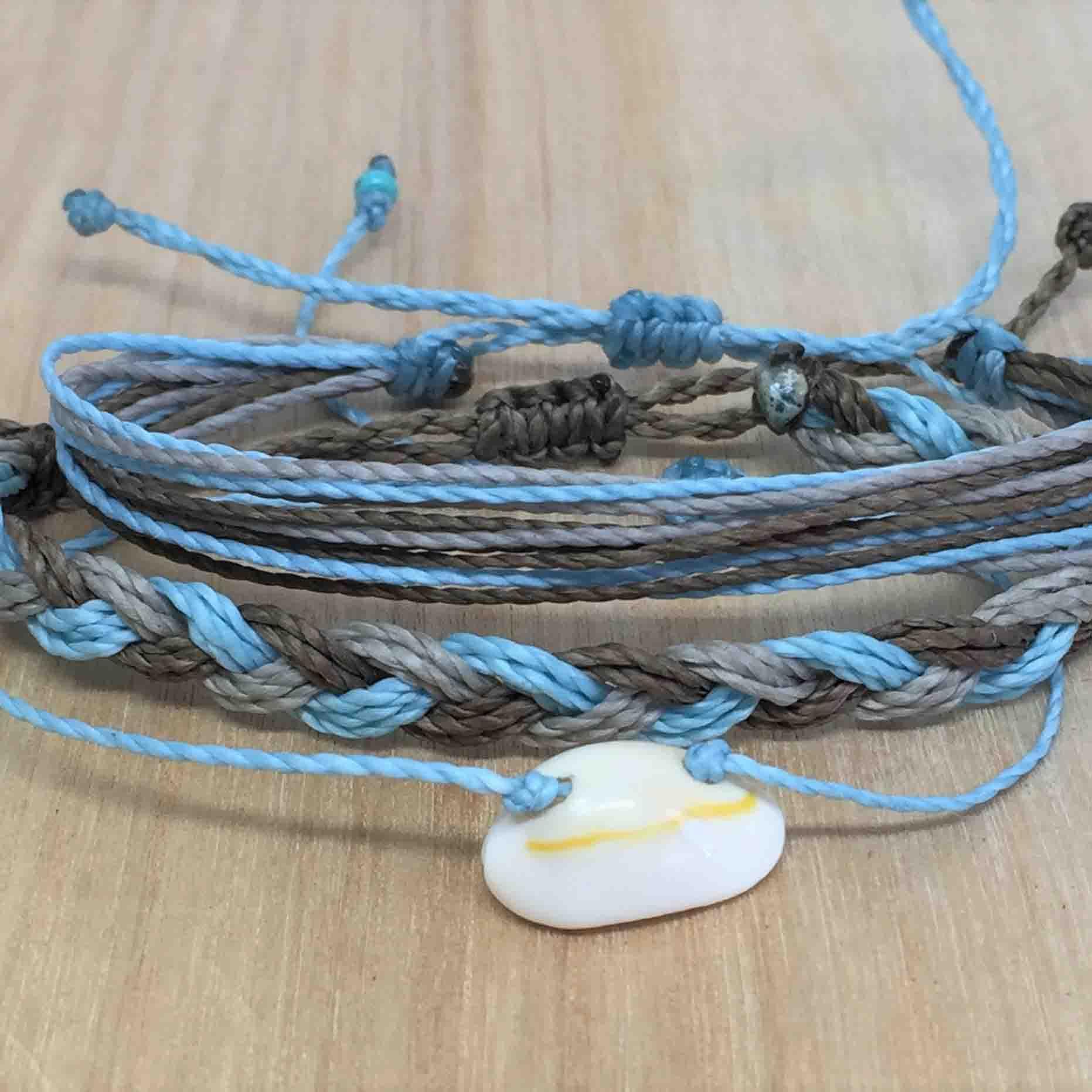 Waxed Cord Bracelet String Bracelet Waterproof Bracelet Friendship Bracelet Adjustable Bracelet Neon Green and Blue Waxed Cord Bracelet